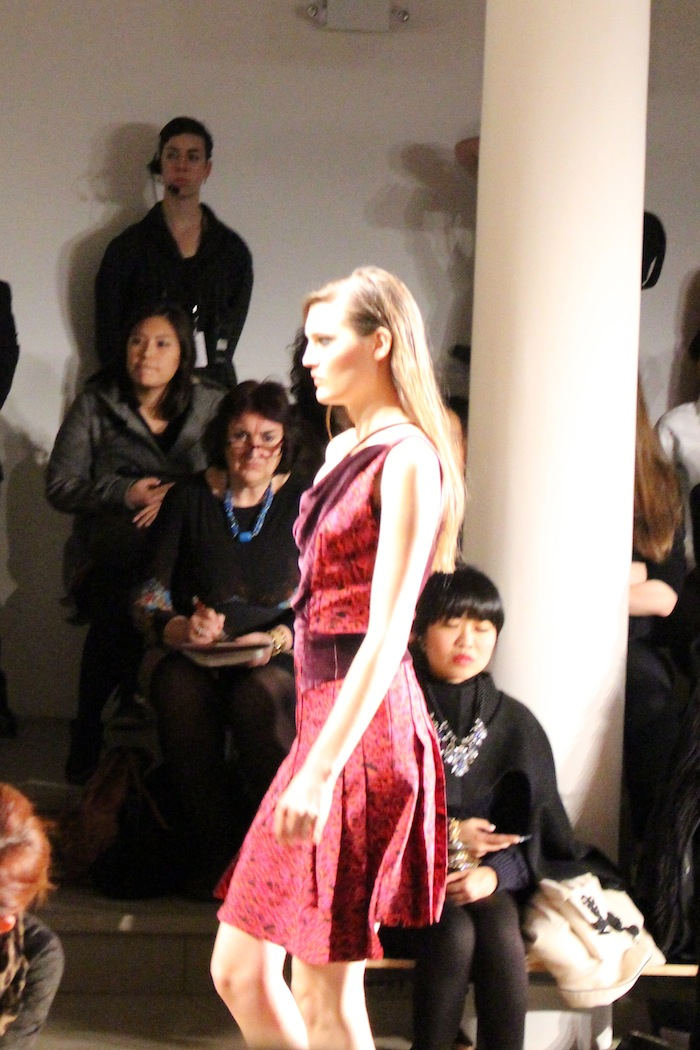 Sophie Theallet Gorgeous Red Print Dress NYFW Fall Winter 2014