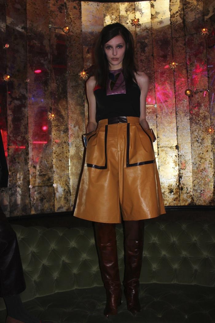 Yellow Leather at Cynthia Rowley NYFW Fall 2014 Presentation Party