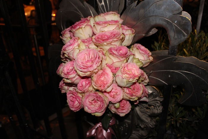 Lisa Vanderpump New Restaurant Pump West Hollywood - A Bouquet of Pink Roses are always Nice