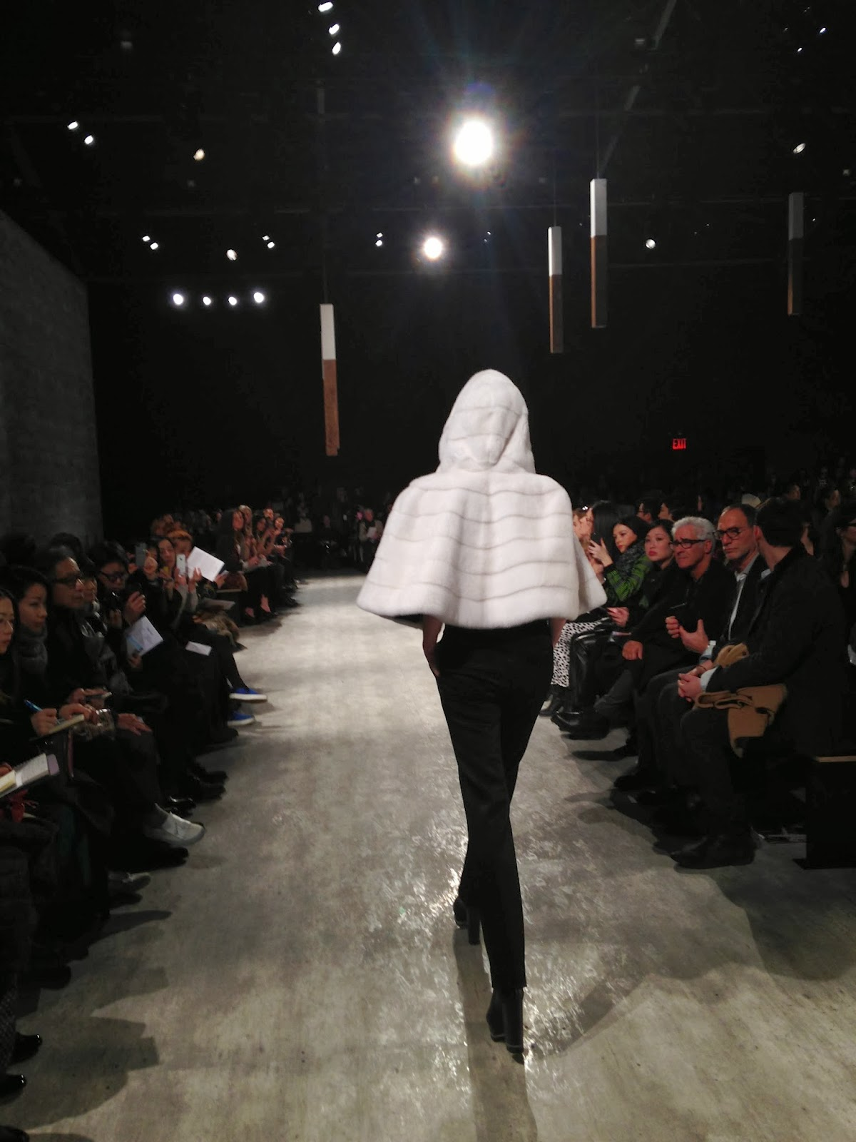 Adeam White Fur Cape Jacket Fashion Show NYFW 2014