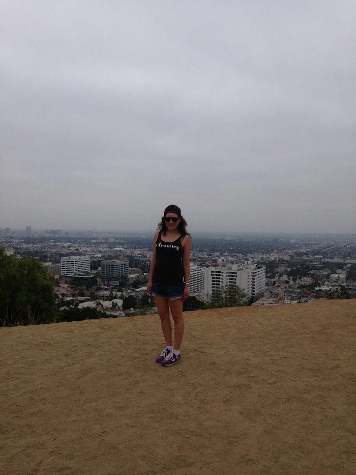 Hiking Style up Runyon Canyon Los Angeles