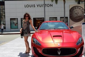 Nanette Lepore Florals at Beverly Hills Fathers Day Car Show