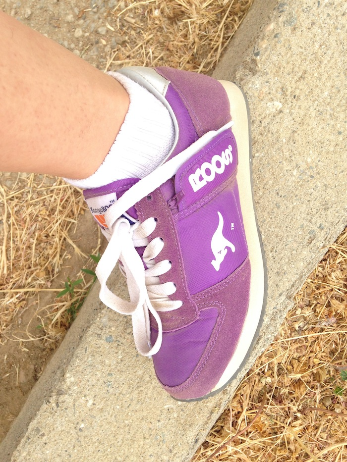 Purple Kangaroos Sneakers