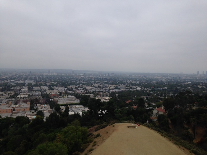 Top of Runyon Canyon Hiking Trail Los Angeles