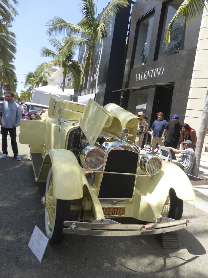 Valentino Yellow Classic Car Beverly Hills Car Show Fashion Trend - Beverly hills car show