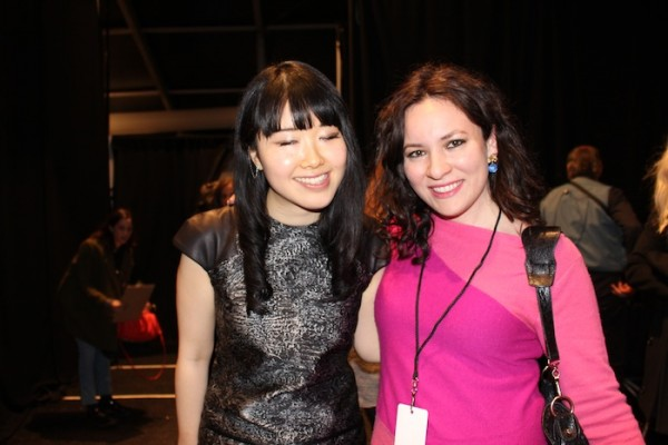 With designer Adeam backstage at the NYFW show at Lincoln Center