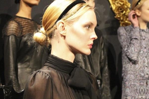 NYFW Bun Hair Trends Charlotte Ronson