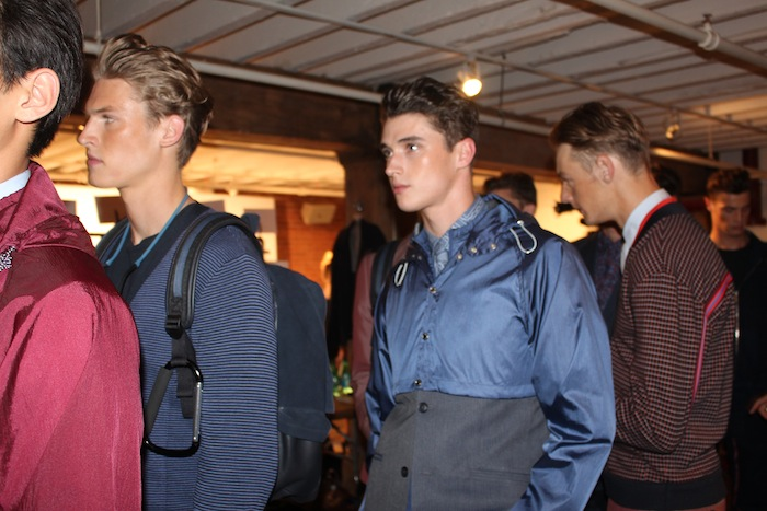 Backstage NYFW Perry Ellis Day 1 Fashion Show Mens Wear