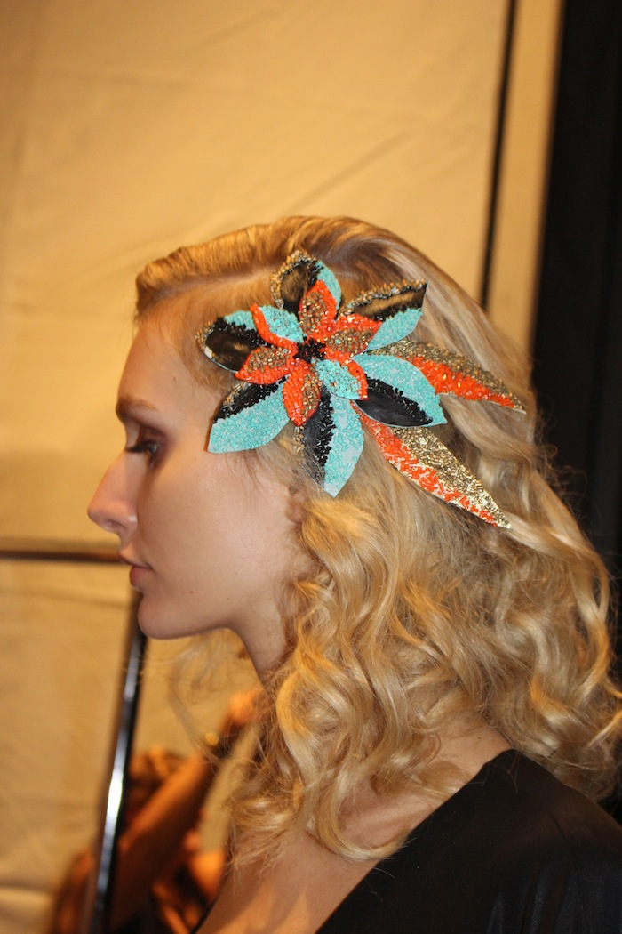 Georgine Backstage NYFW SS15 Natural Makeup Trends MAC Cosmetics