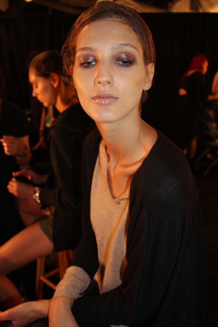 Glossy Eyes Fall Trend NYFW Backstage Georgine MAC Makeup SS15