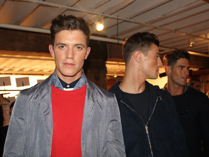 Hot Male Models Perry Ellis NYFW menswear fashion show