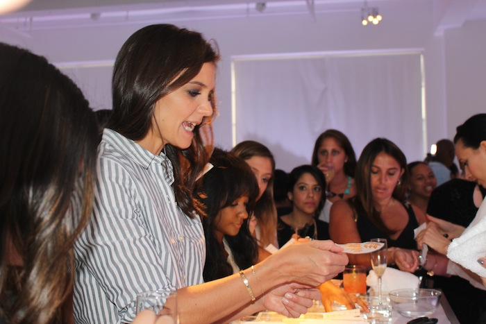 Katie Holmes gets Tattoo at Old Navy Joe Zee Fashion Week Party 2014