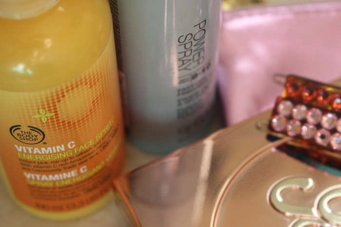 The Body Shop Vitamin C Energising Face Spray Pick me up Beauty Favorite during New York Fashion Week for brighter skin