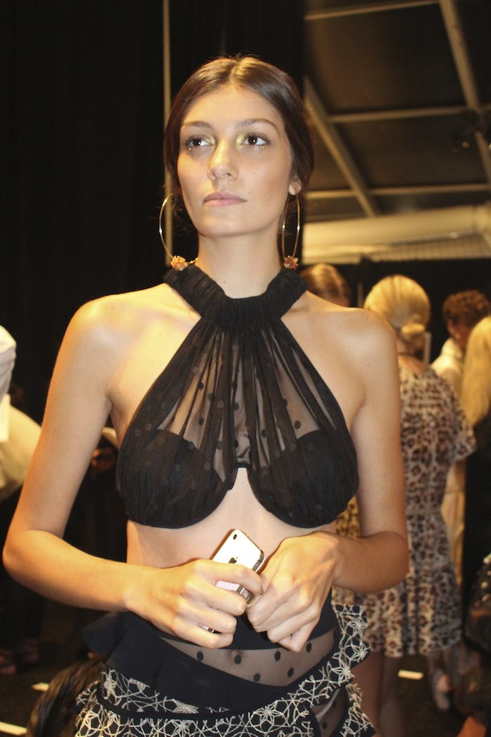 Black Bikini Zimmermann New York Fashion Week Lincoln Center SS2015 Fashion Show