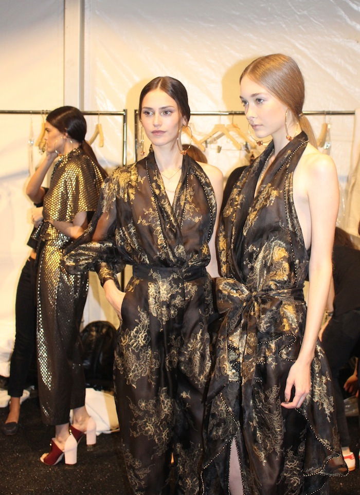 Gold and Black at Zimmermann New York Fashion Week Show September 2014 Lincoln Center