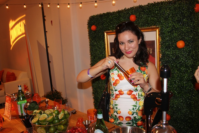 Mixing Cointreau during New York Fashion Week FTL Moda Style 360 Style Lounge
