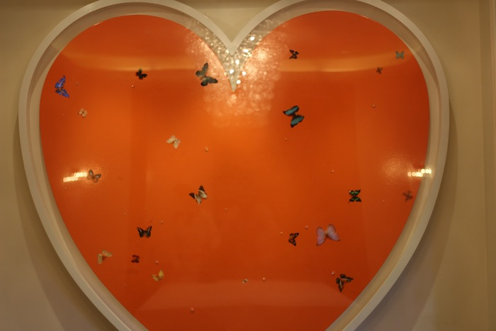 Beautiful Orange Hearts with Butterflies Hottest Style Trends 2014