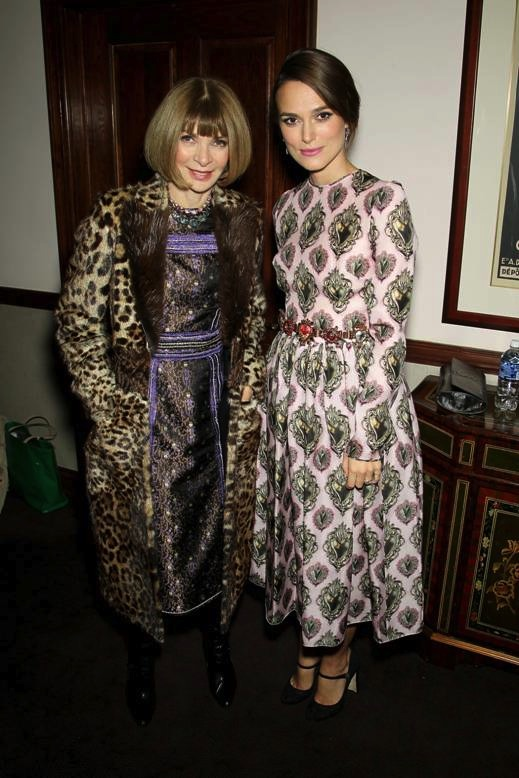 Anna Wintour and Keira Knightley at the after party of The Imitation Game Fashion Princesses of New York