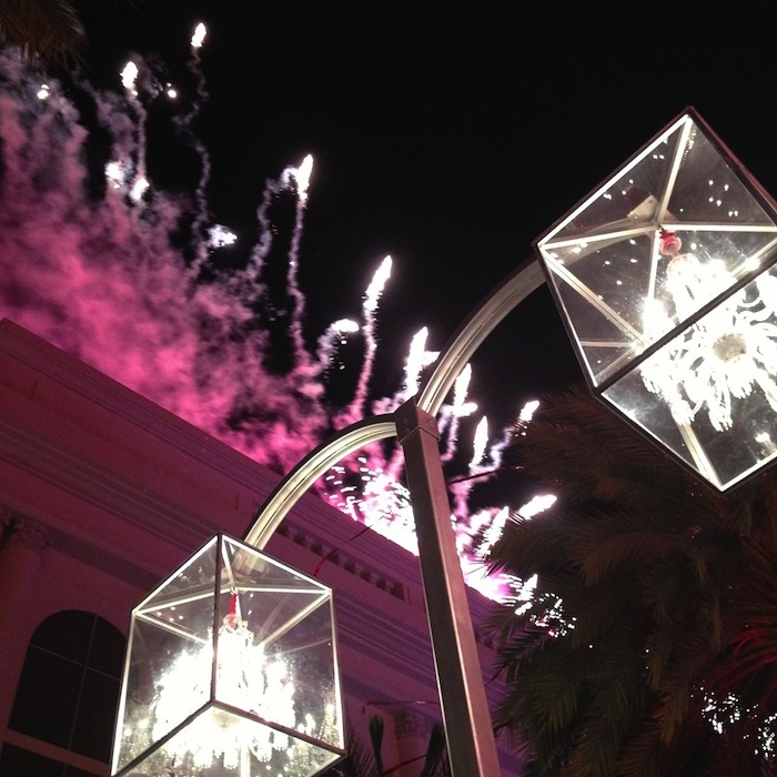 Beverly Hills Pink Fireworks
