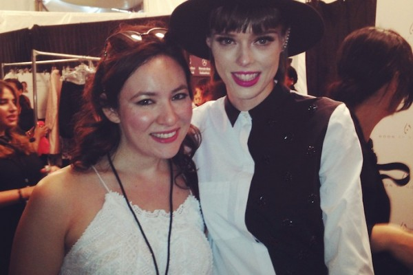 Backstage at NYFW With Coco Rocha Best Fashion Bloggers wearing Zimmermann
