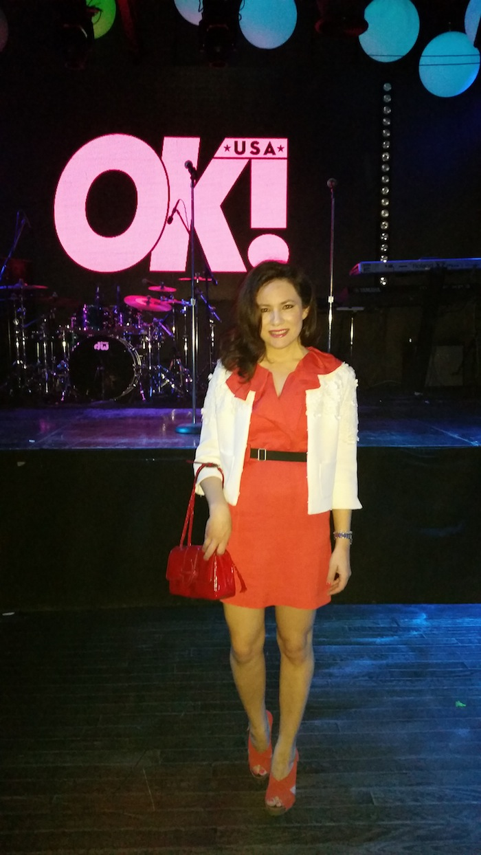Fashion Trend forward OK Magazine Valentines Weekend Grammy Party Red Dresses Fashion Blogger Pics
