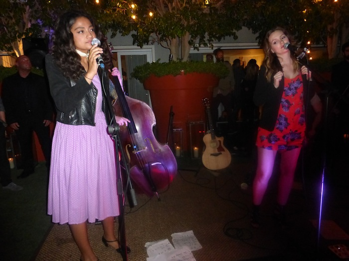 Dana and Leighton Meester perform at Skybar Mondrian on Sunset for Many Hopes Charity