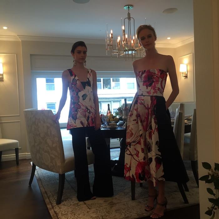 Floral strapless dress Sachin and babi spring 2016 nyfw fashion show presentation