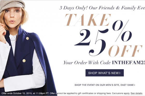 Friends and Family Sale ShopBop