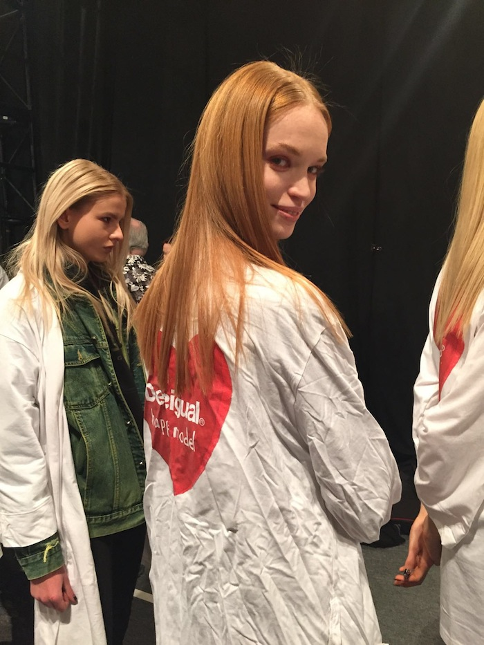 Desigual New York Fashion Week 2016 Happy Models Backstage Beauty