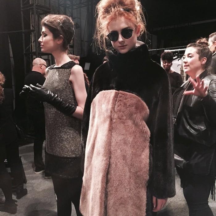 Carmen Marc Valvo Fur Coat New York Fashion Look Hollywood Trends