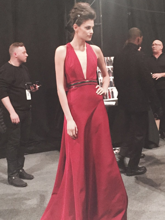 Carmen Marc Valvo Long Red Dress NYFW Couture 2016 Hottest Trends