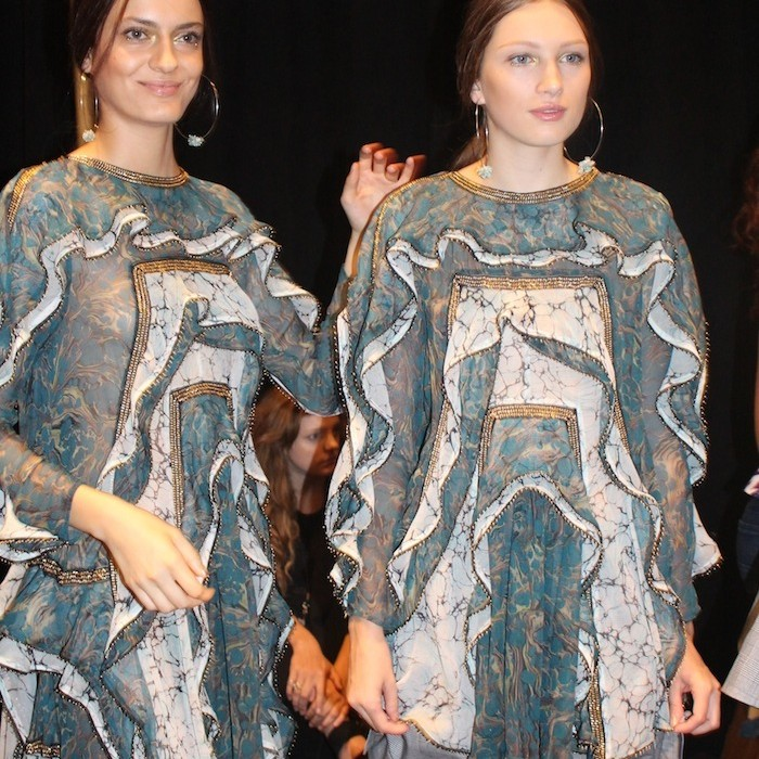 Zimmermann hottest style trends turquoise whites Fashion Show backstage with the models