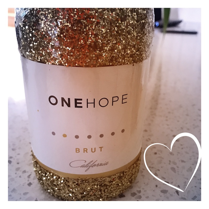 One Hope Brut Gold Glitter Bottle For New Years