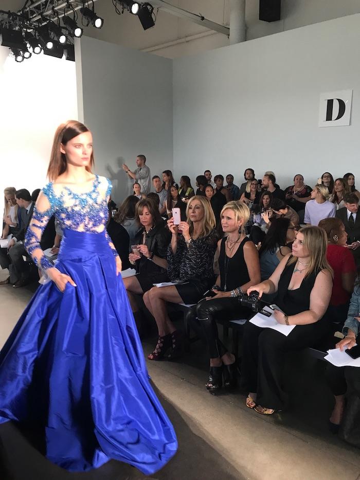 Pamella Roland Blue Ball Gown NYFW Spring 2018 Runway