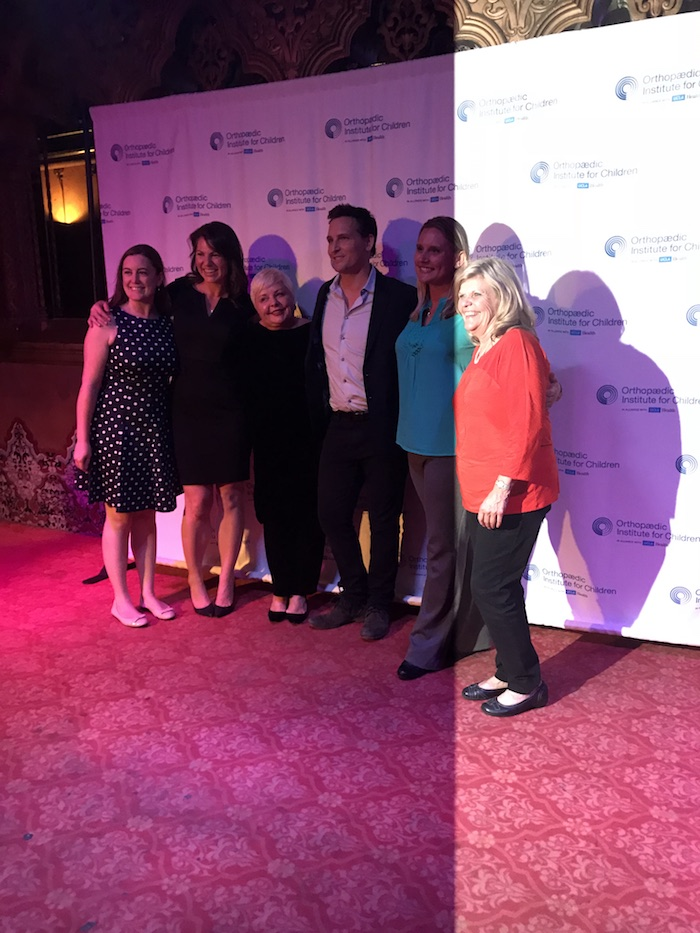 Peter Facinelli with UCLA Orthopedic Institue for Children team in Los Angeles