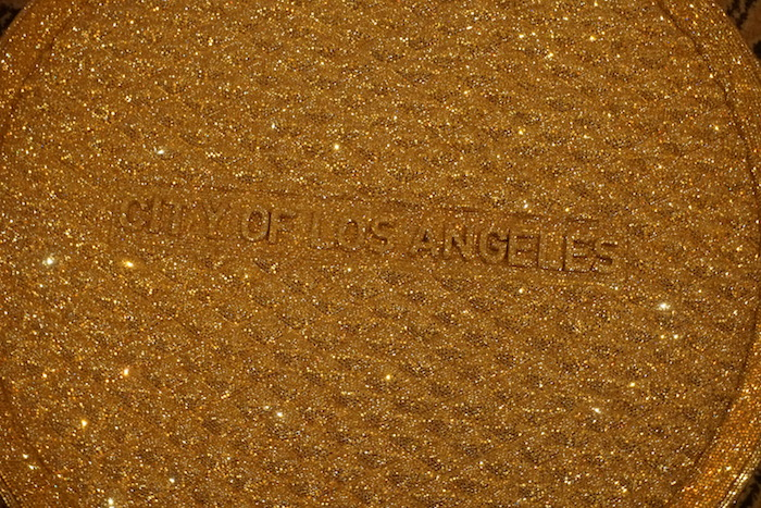 LMK ARt City of Los Angeles Gold Rug Golden Globes 2018