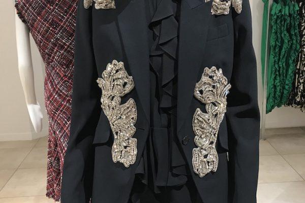 Alexander McQueen Black Crystal Jacket 2018 Trends