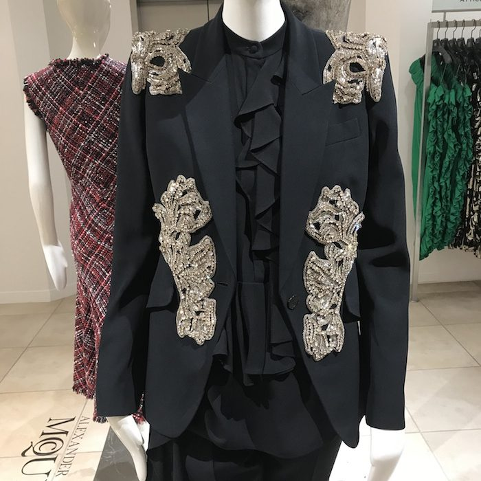 Alexander McQueen Black Crystal Jacket 2018 Trends