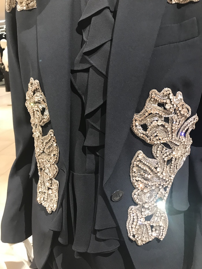 Alexander McQueen Black Sequined Jacket luxury fashion 2018