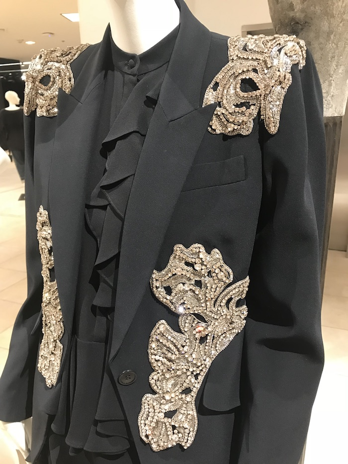 Alexander McQueen fashion 2018 black crystal jacket