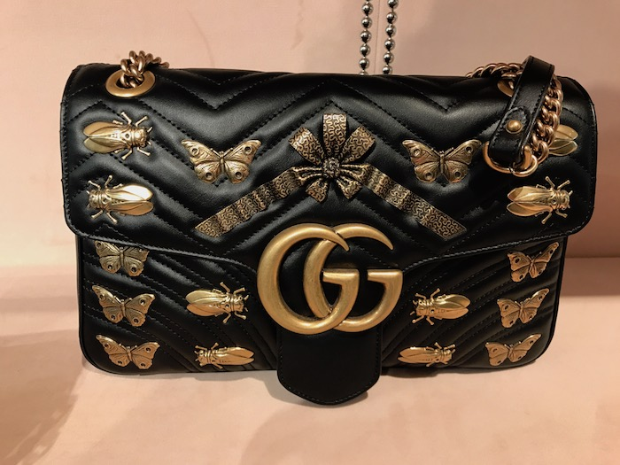 Black Gucci Bug Bag in Paris