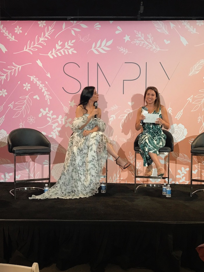 Sarah Boyd and Emeraude Toubia at Simply Blogger Conference