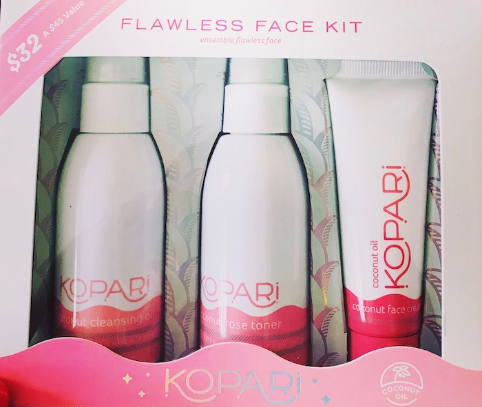 Kopari Flawless Face Kit Cocunut face cream and cleansing for face