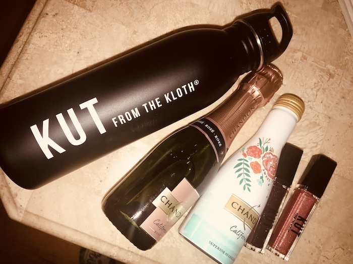 Kut from the kloth Chandon rose water bottle fashion blogger essentials