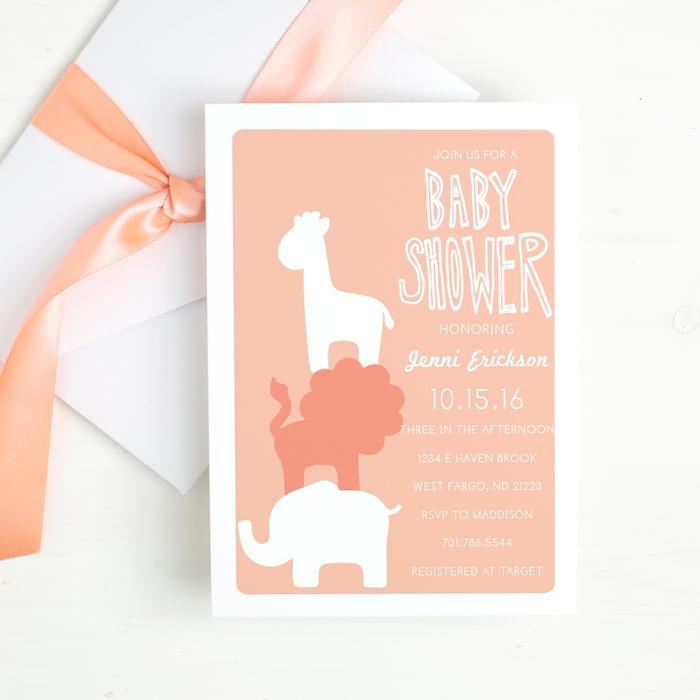 Baby Shower Invitations Animal Theme