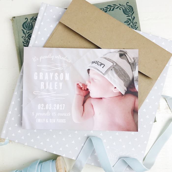 Ideas for Baby Birth Announcements