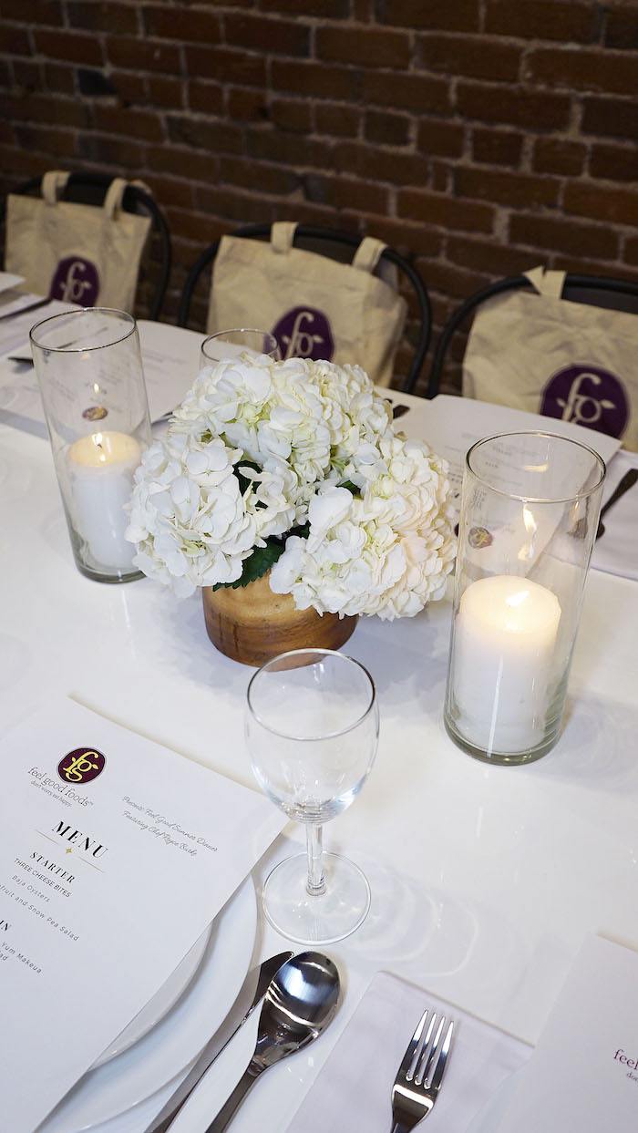 Dinner decor ideas Feel Good Foods Influencer Dinner in Los Angeles